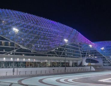 Yas Marina Circuit - F1 Track outdoor view