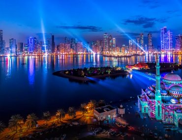 A image from the Sharjah Light Festival