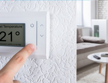 Digital thermostat in chiller free apartments for rent in Dubai