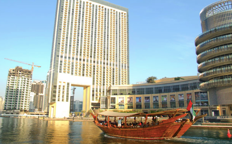 Traditional dhow cruise in Dubai Marina