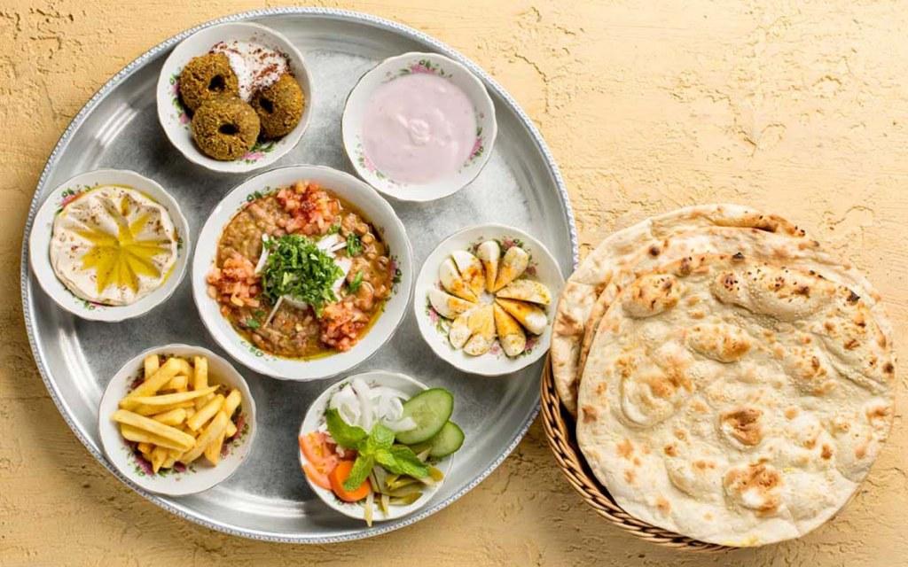 Arabic breakfast platter