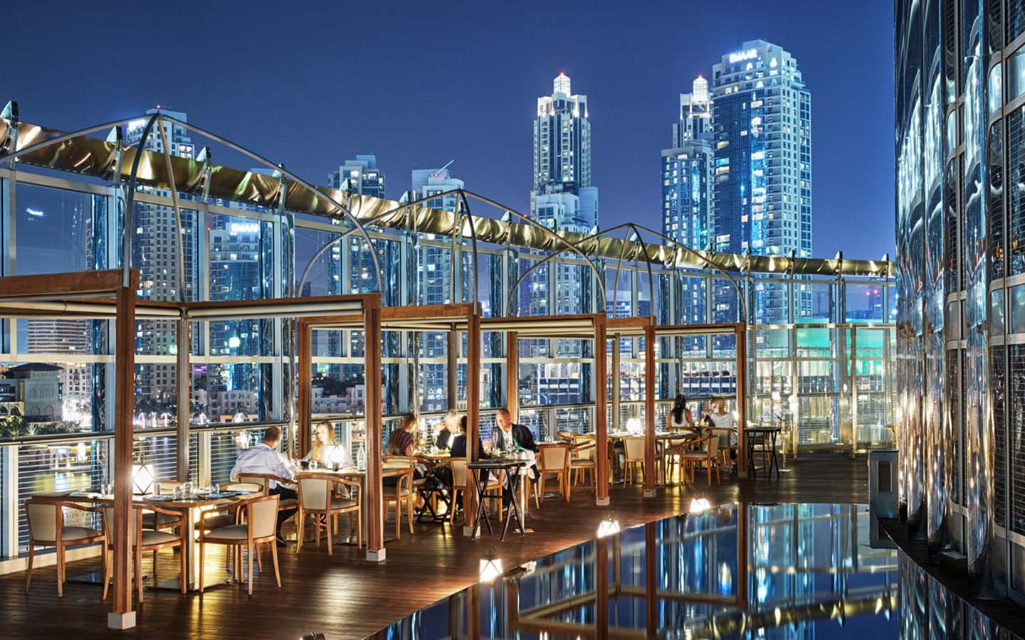 View from Armani Amal restaurant