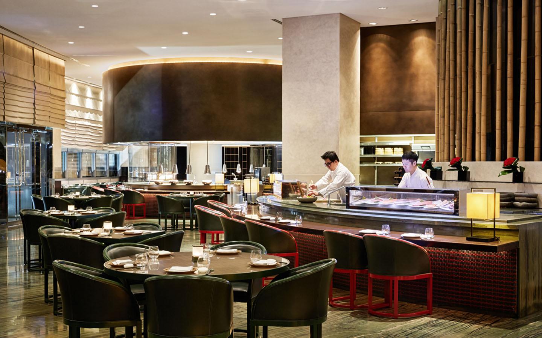 Interiors of Armani Hashi restaurant in Downtown Dubai