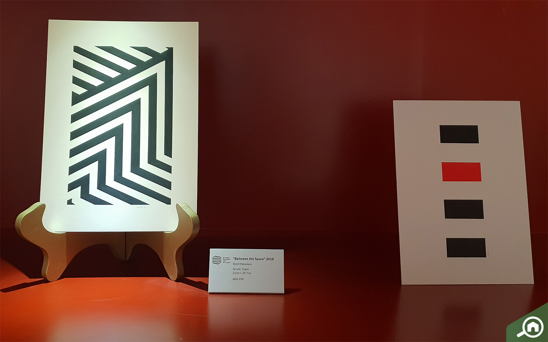 Artworks on display inside Etihad Modern Art Gallery