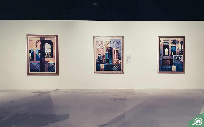 Artwork inside Manarat Al Saadiyat, art gallery in Abu Dhabi