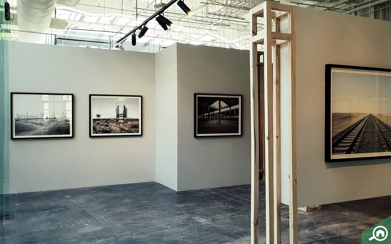 Artwork inside Warehouse 421, Abu Dhabi Art Gallery
