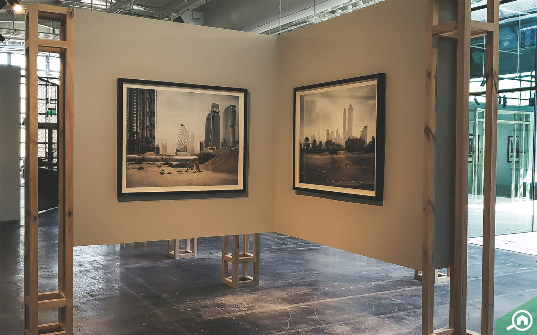 interior of art gallery in Abu Dhabi, Warehouse 421