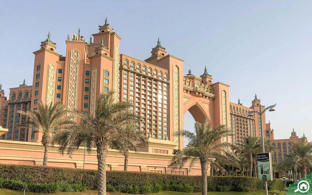 The Atlantis hotel at the Palm Jumeirah