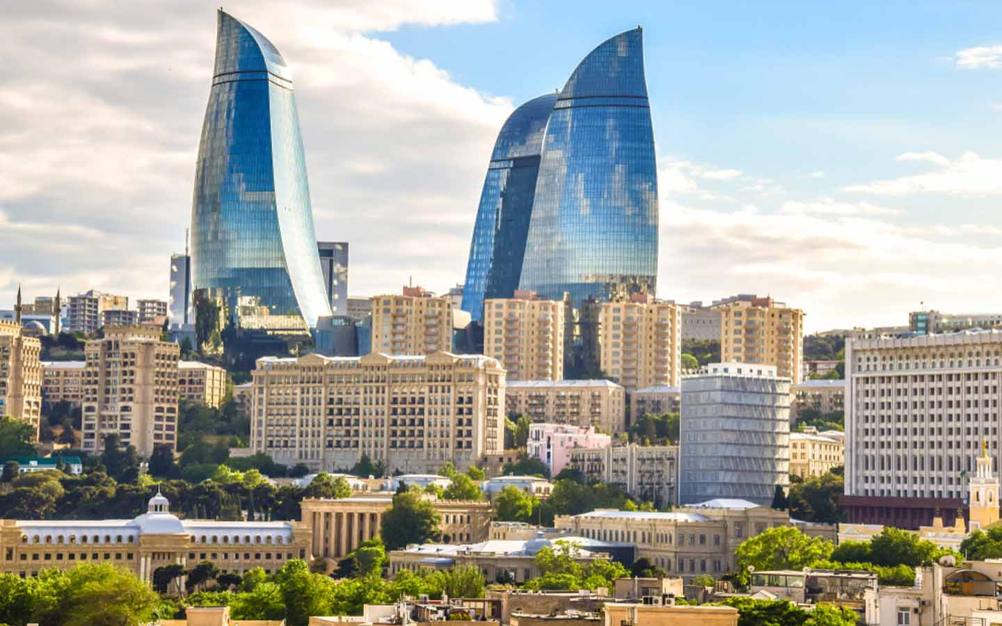 A view of buildings in Azerbaijan, which is one of the visa free countries for UAE residents