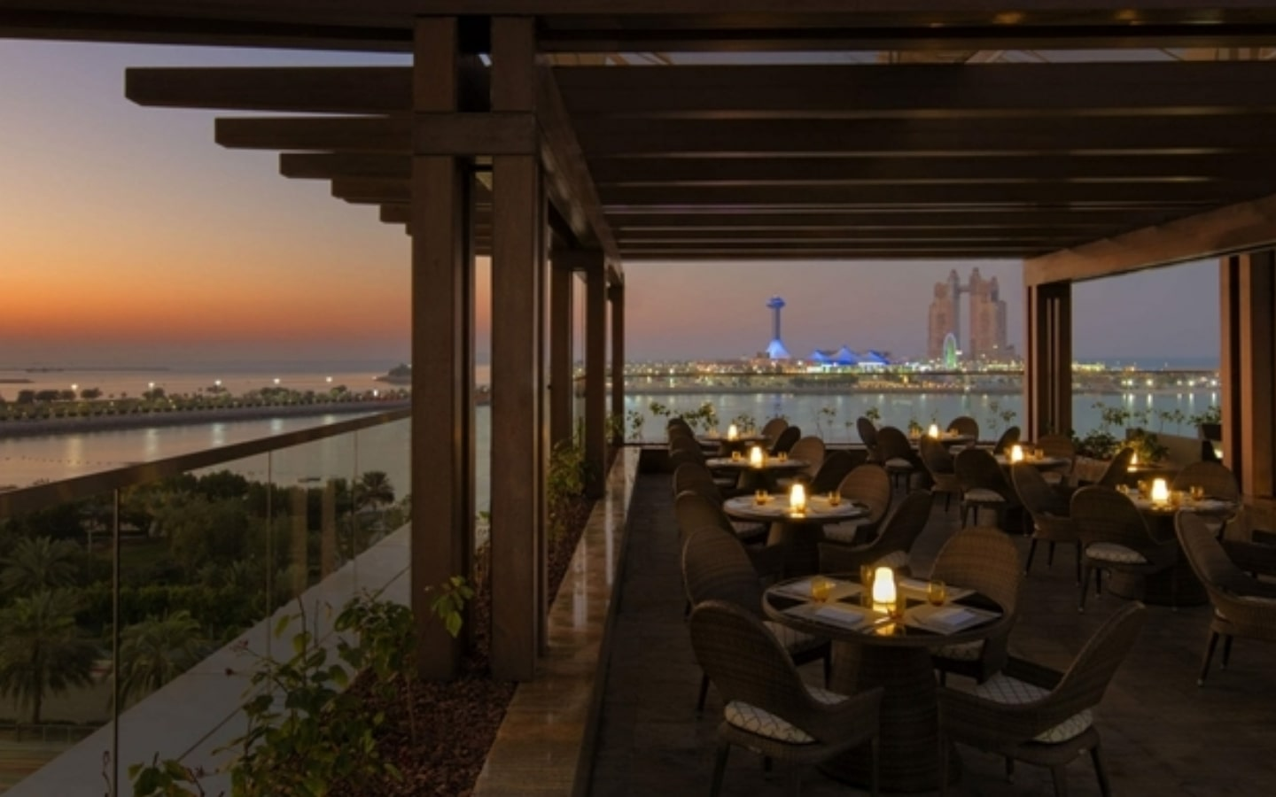 View from Azura Panoramic Lounge, one of the best suhoor restaurants in Abu Dhabi
