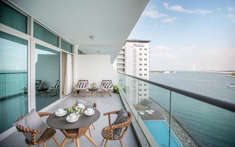 Azure Residences apartment terrace
