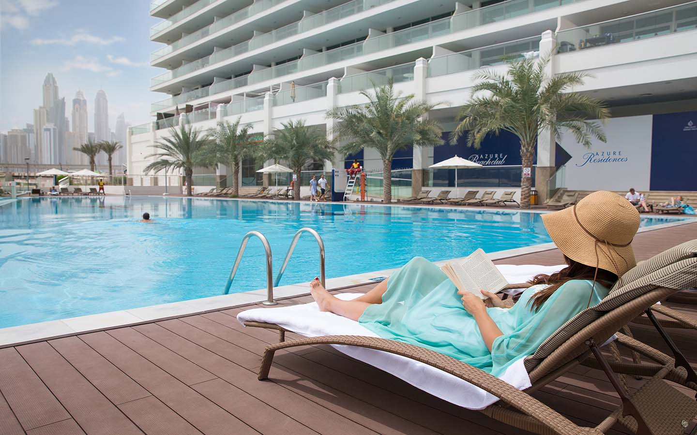Azure Residences infinity pool and beach club