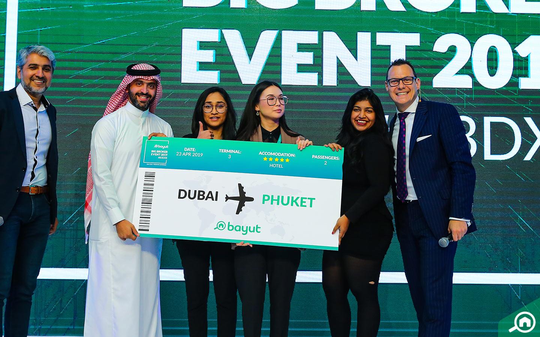 winners at bayut big broker event 2019