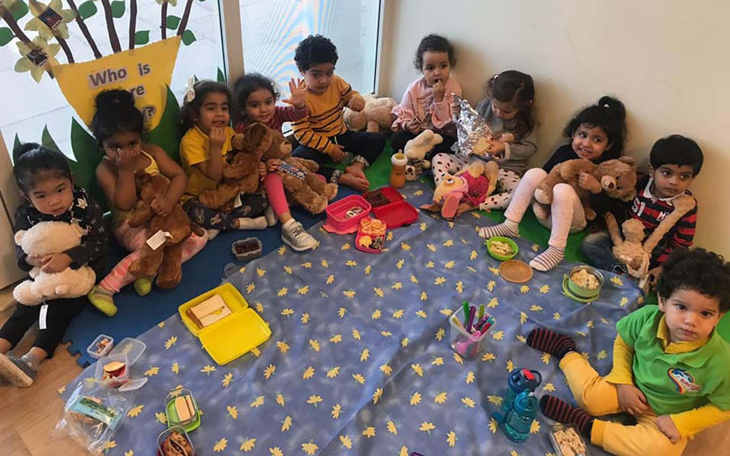 Children collaborating with each other at Baby Home Nursery in JVC