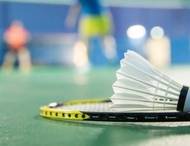 Badminton racket, Shuttlecock in a badminton court