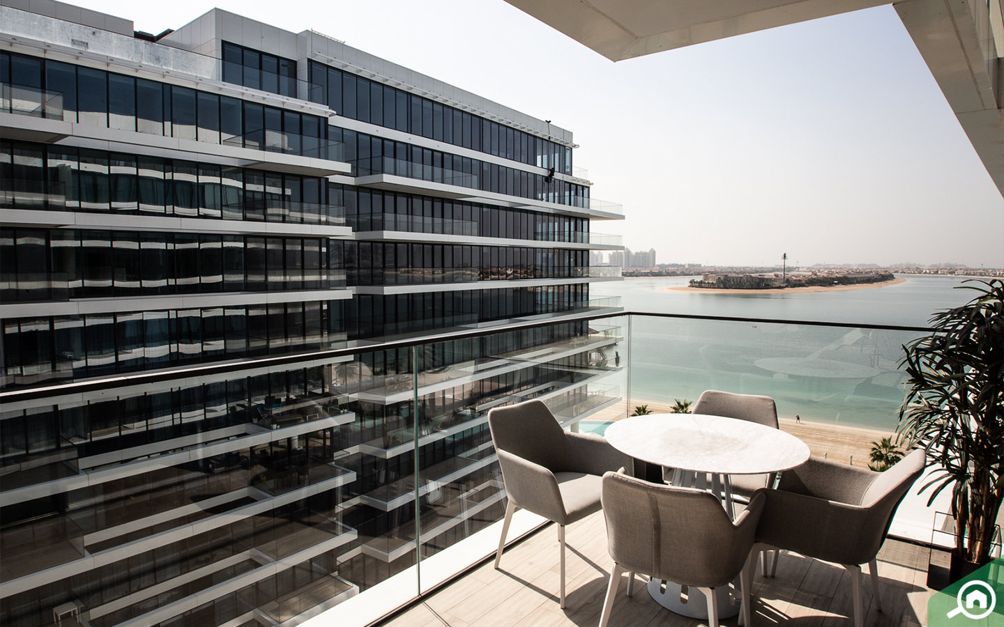 View from balcony in apartment for sale in Serenia Residences