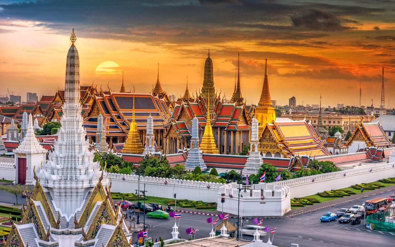 View of Grand Palace in Bangkok