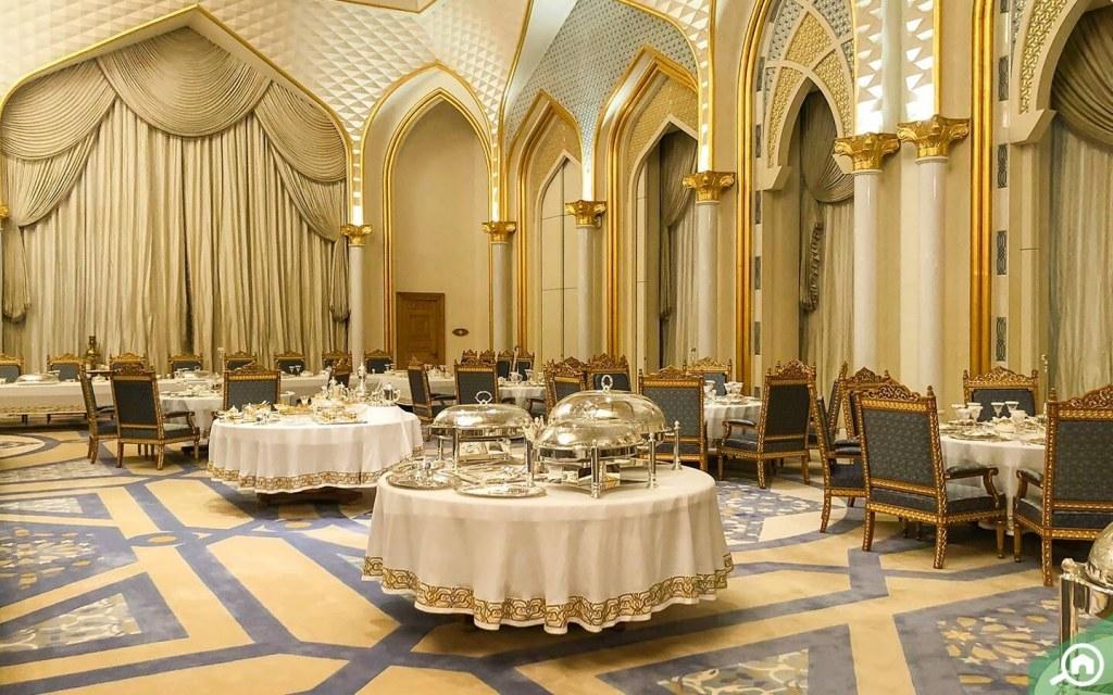 جناح المائدة الرئاسية في قصر الوطن