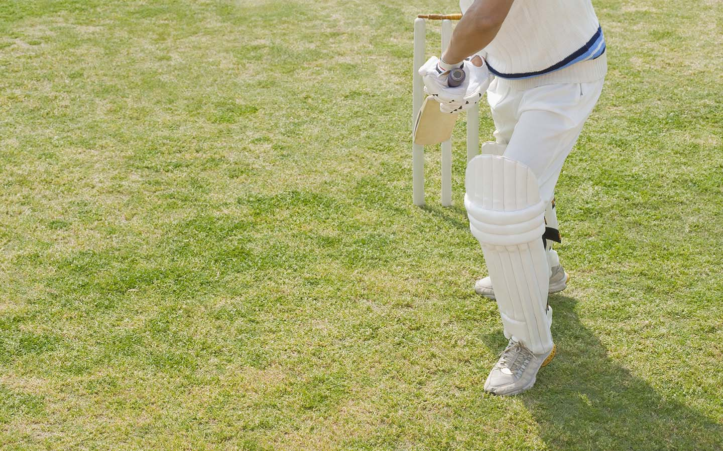 Player in a batting position
