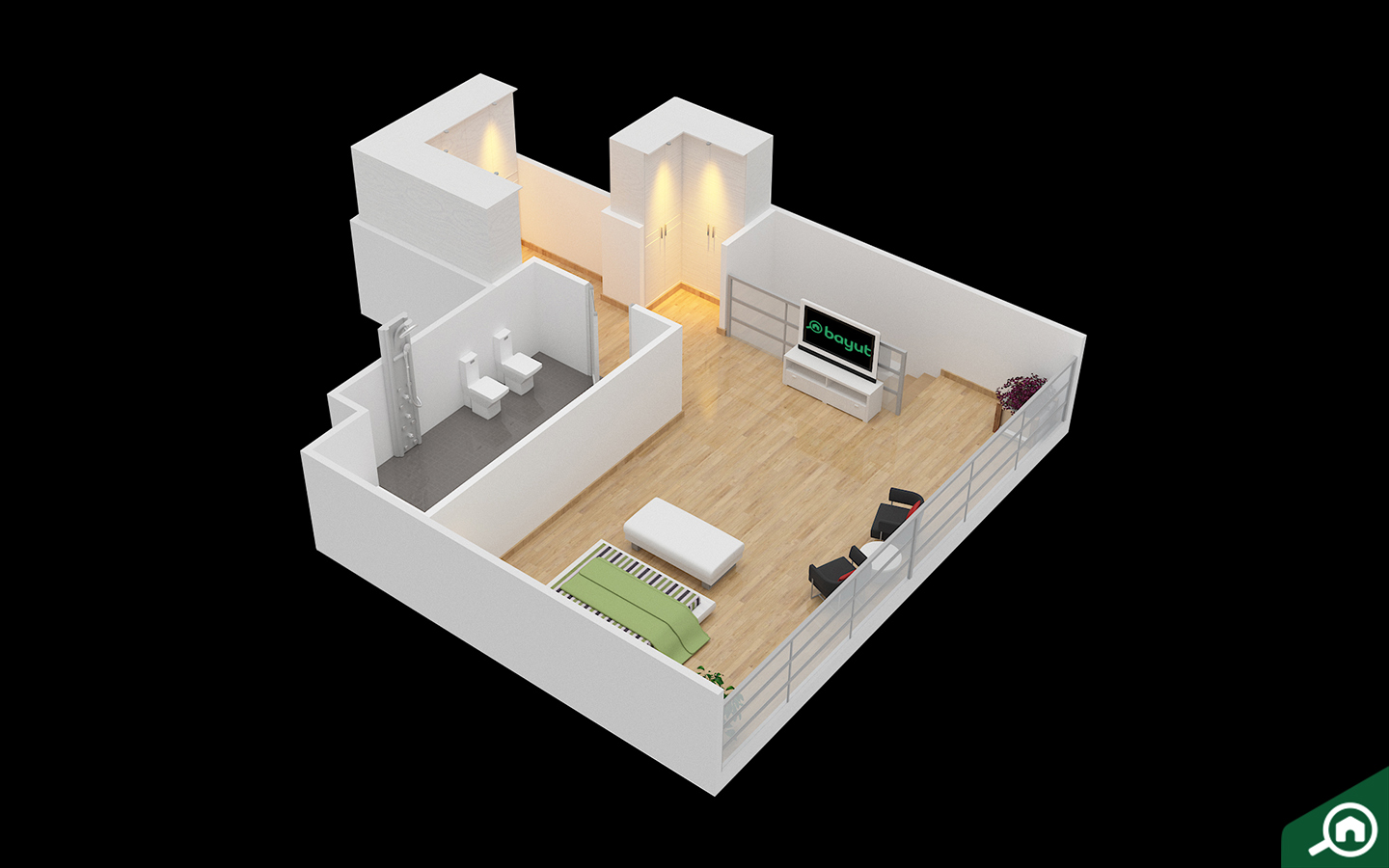 2D and 3D floor plans offered by Bayut