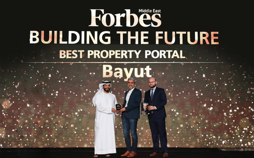 Bayut's CEO Haider Ali Khan receives the Best Property Portal award