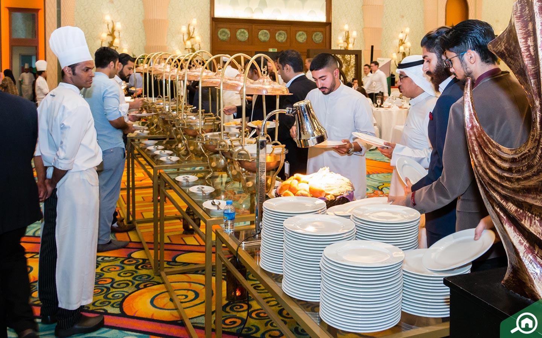 The feast at the Bayut Iftar in Atlantis, Palm Jumeirah