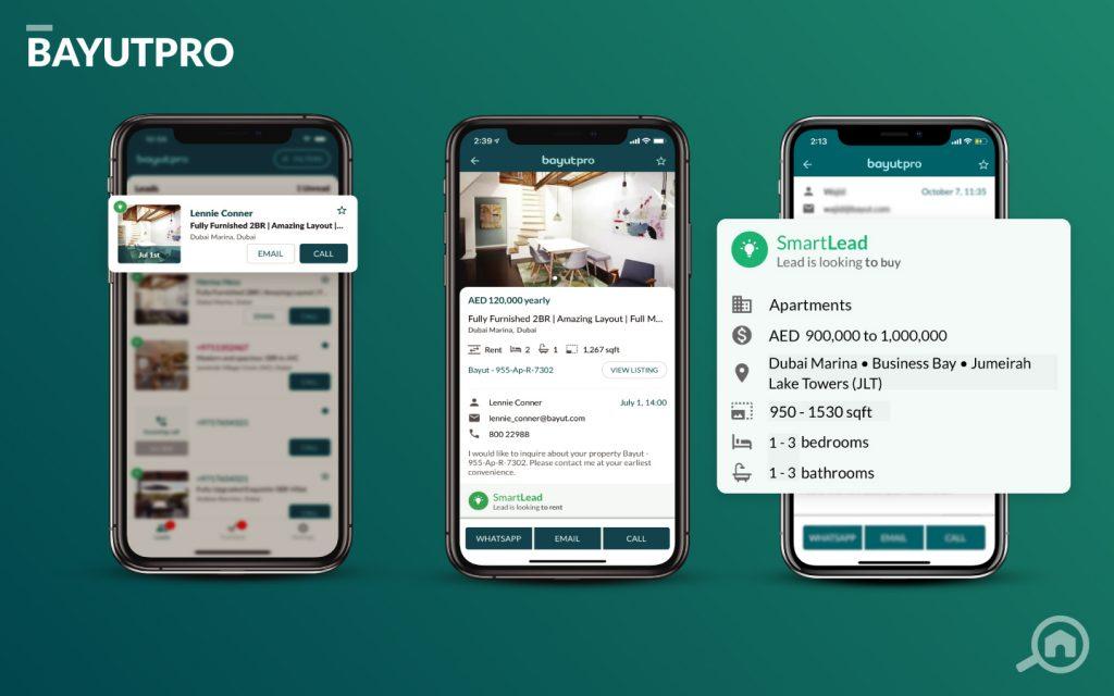 Bayutpro app for real estate agents