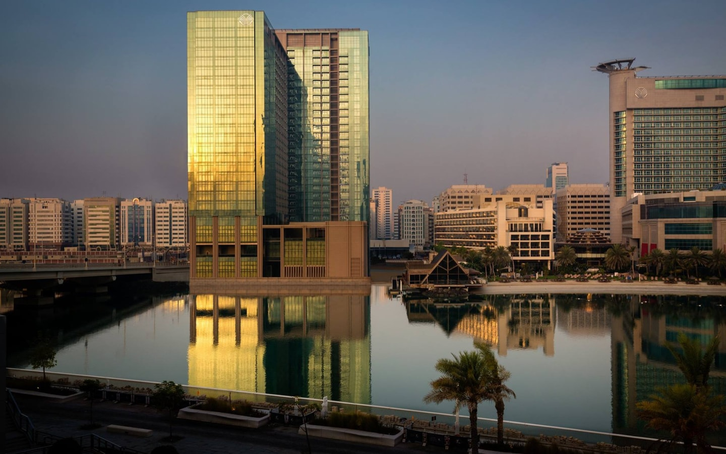 Exterior view of Beach Rotana with staycation deals in Abu Dhabi