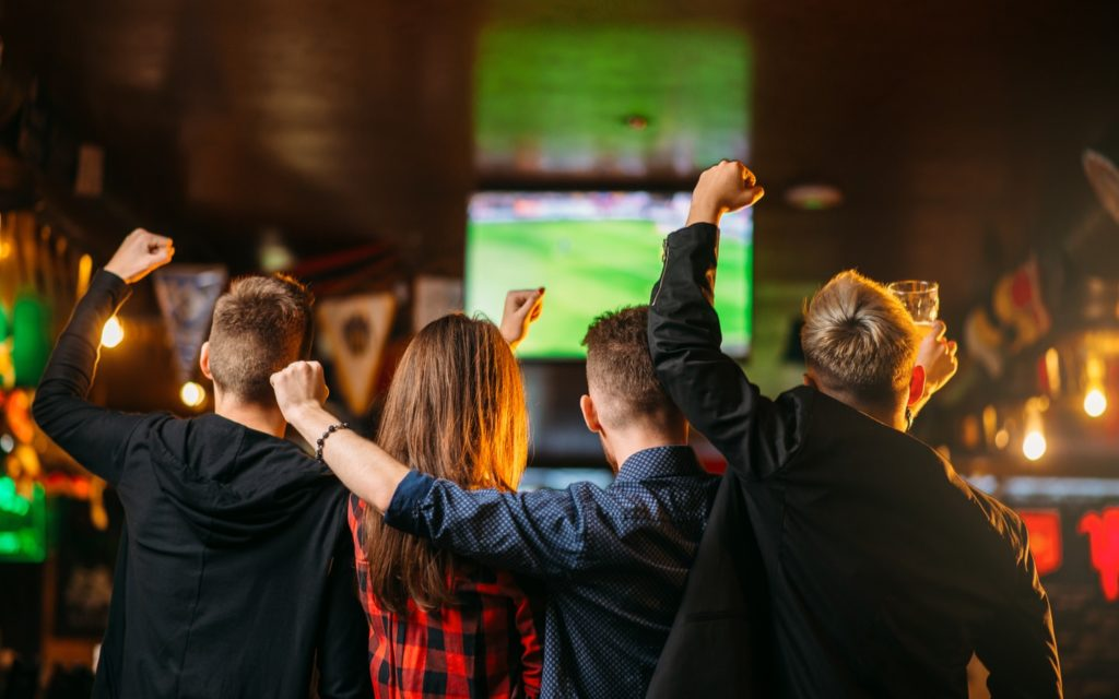Image from one of the Sports bars in Dubai Marina