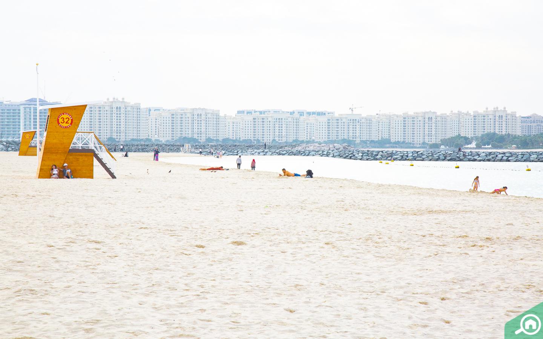 View of the Al Sufouh Beach Dubai