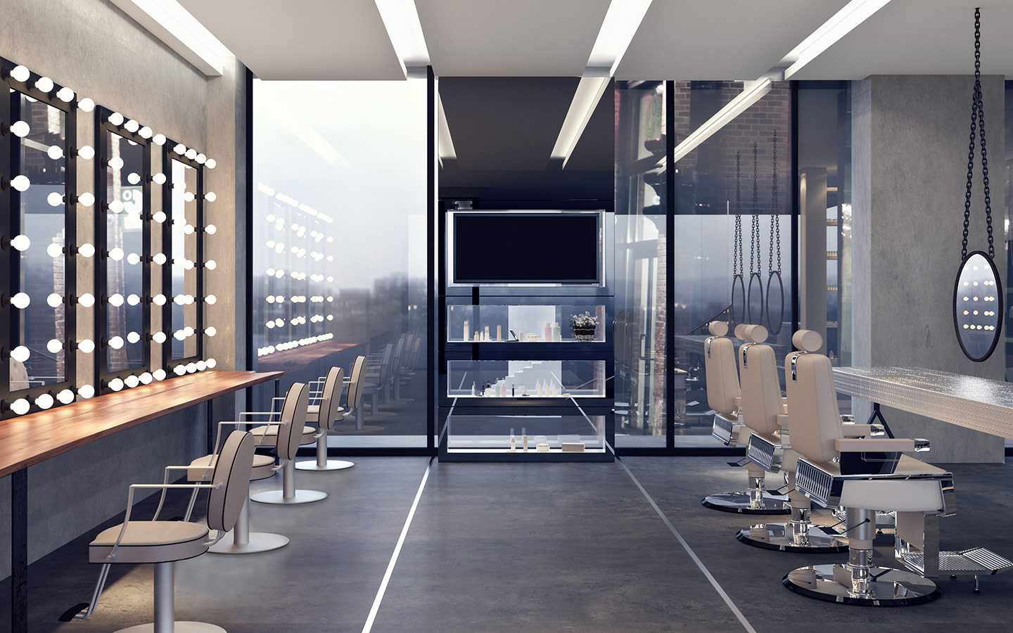 An interior view of one of the salons in Dubai