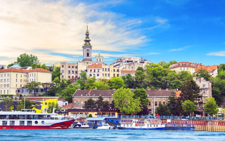 View of the port of Belgrade