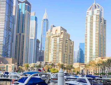 Buildings in Dubai Marina