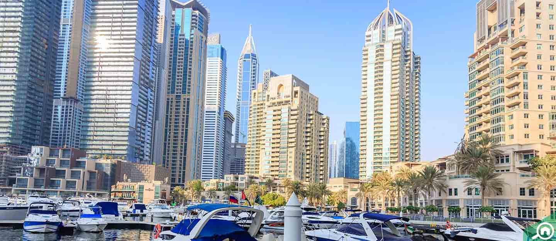 Buildings in Dubai Marina