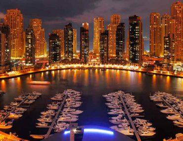 night view of Dubai Marina