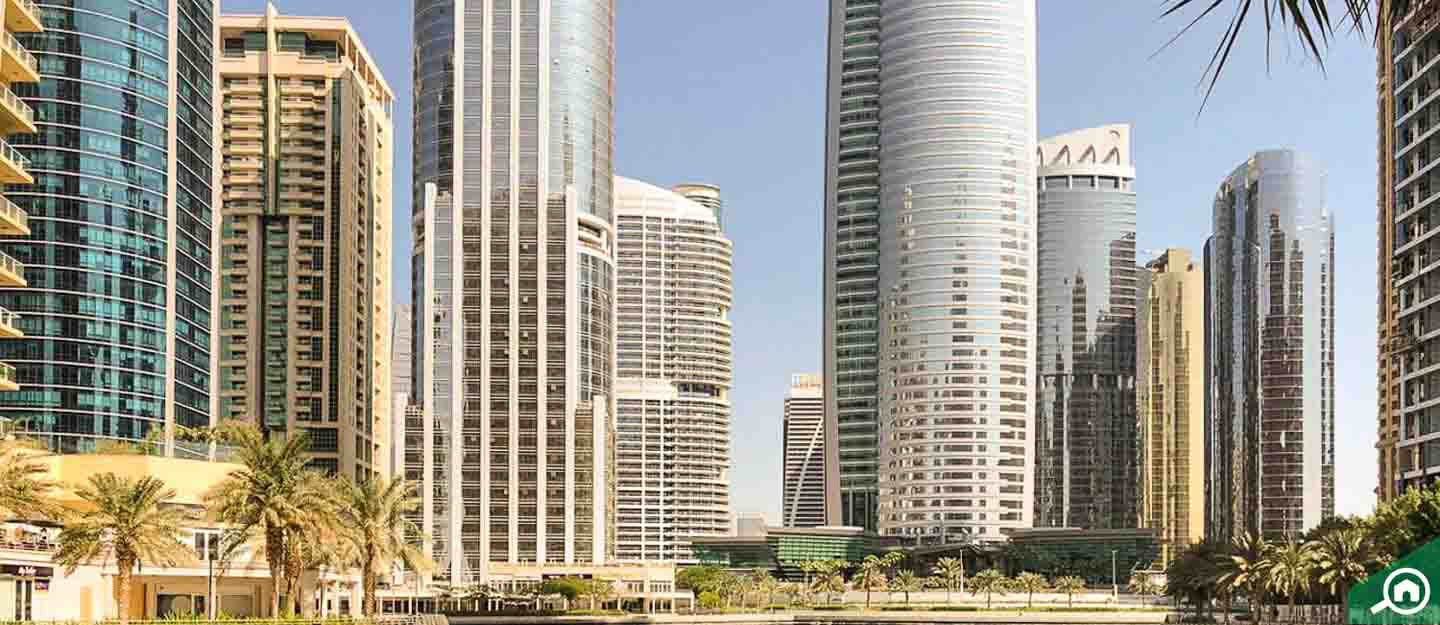 Buildings with studios for rent in JLT