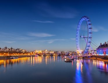 View of London eye located in London one of the best destinations from Dubai