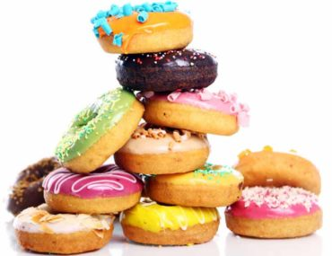 Best doughnuts in Abu Dhabi stacked together