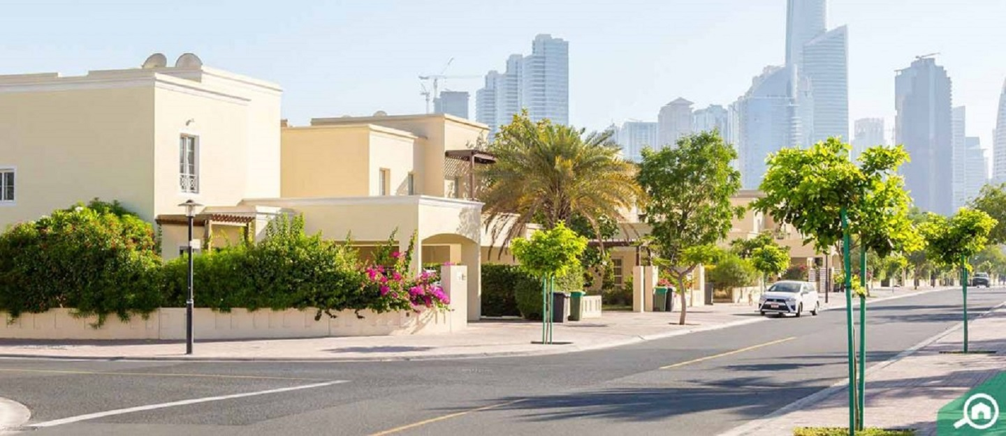 View of a gated community in Dubai