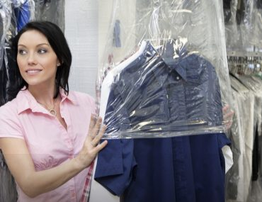 woman at the best laundry services in JLT