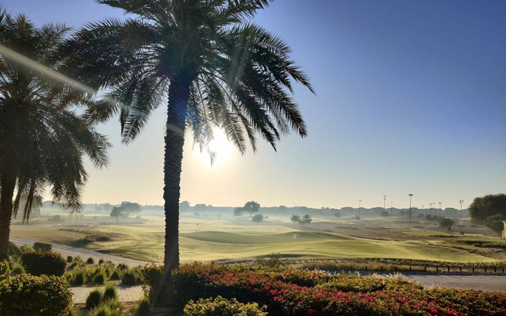 An image of Arabian Ranches golf course walking track