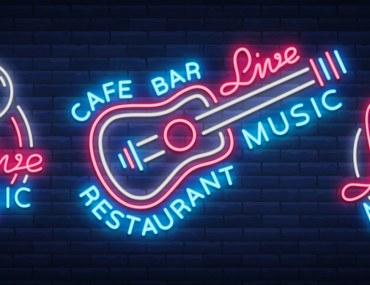 neon lights guitar