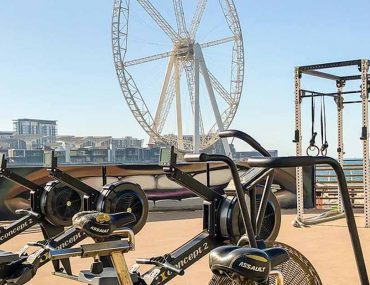 Outdoor gym in Jumeirah Beach Residence in Dubai
