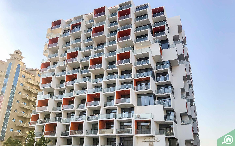 Binghatti Apartment Building in Dubai Silicon Oasis