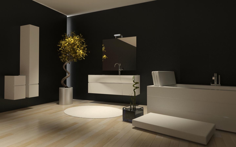 Bold lavish black bathroom