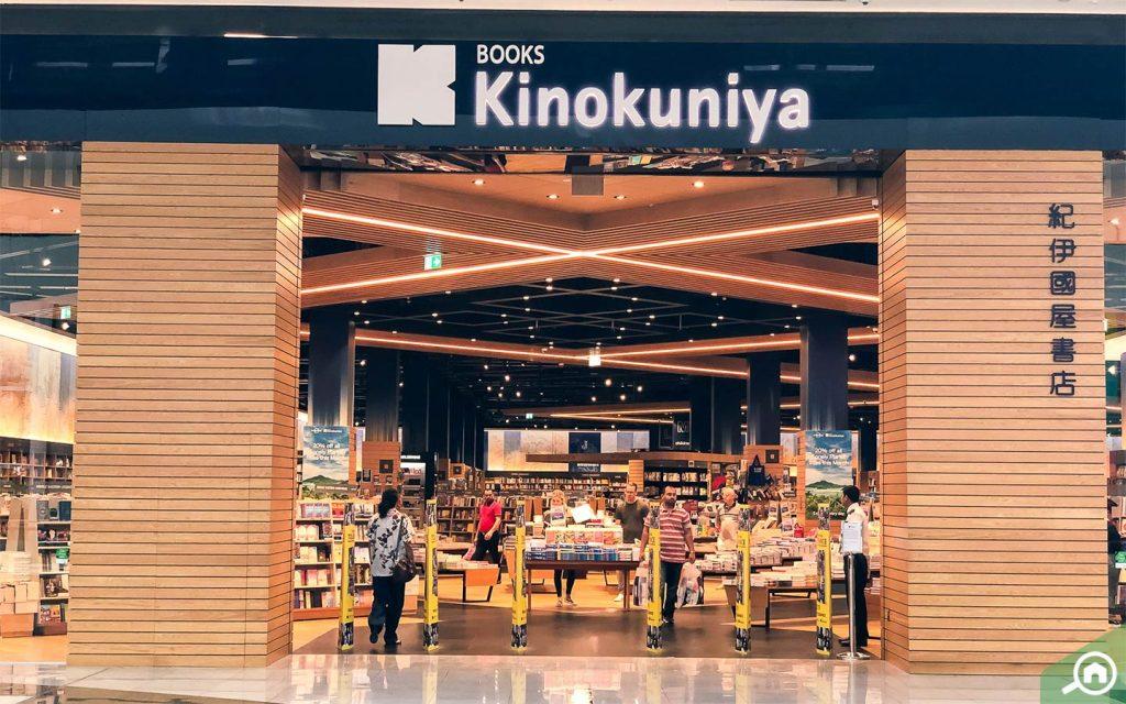 Books Kinokunya book shop in Dubai