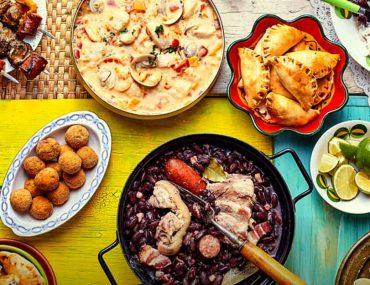 spread of Brazilian dishes