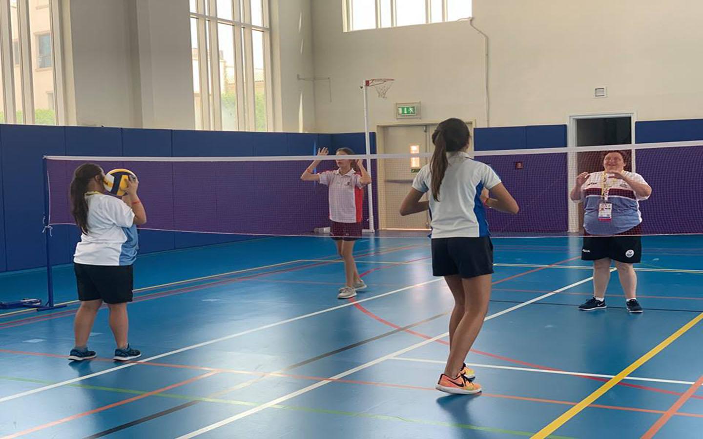 Girls playing at Brighton College Abu Dhabi