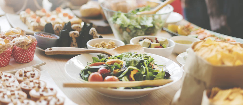 Brunch spread at restaurant in Fujairah