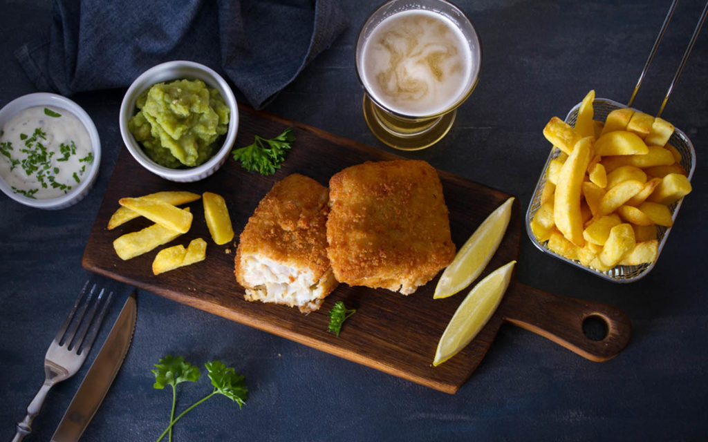 Fish and chips at Mcgettigan's Fujairah brunch